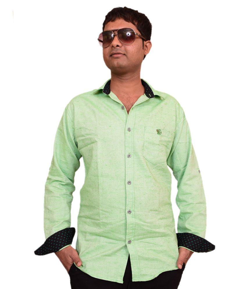 British Terminal Stylish Look Green Slob ( Chianti ) Shirt