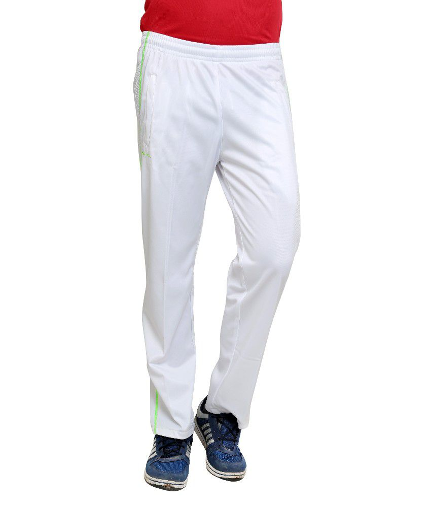Dida  White Polyester Trackpant