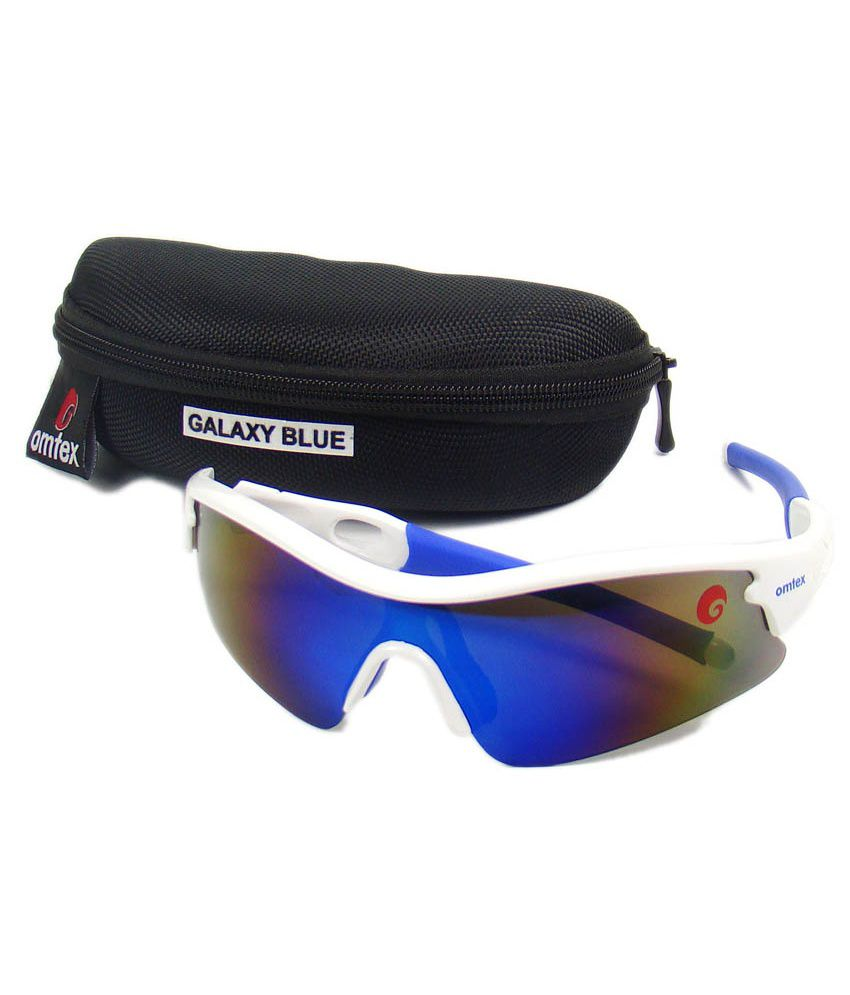 sports sunglasses online  Omtex Galaxy Blue Sports Sunglasses - Buy Omtex Galaxy Blue Sports ...