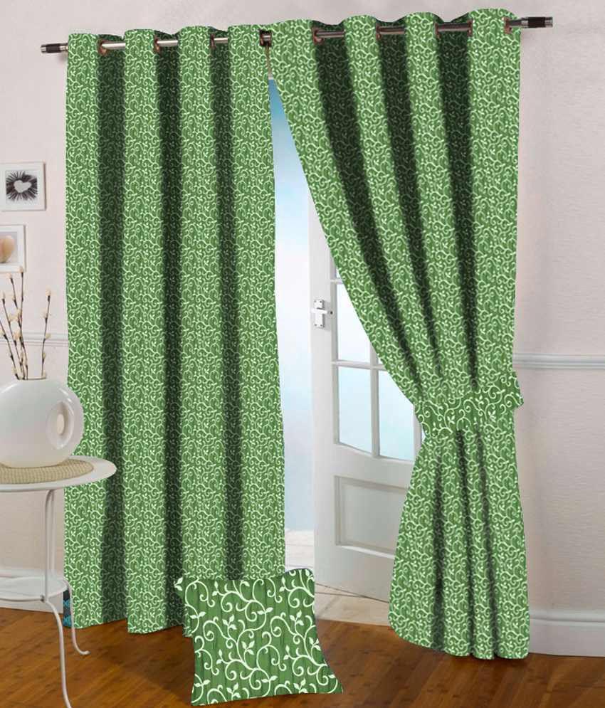 Presto Single Window Eyelet Curtain Contemporary Green