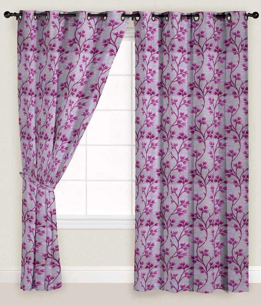 Presto Single Window Eyelet Curtain Floral Pink