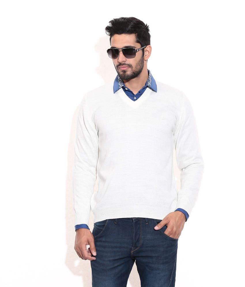 faf313d1389 Priknit V-Neck Sweater in Cream