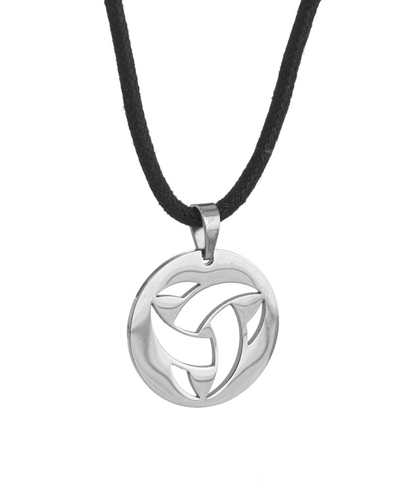 Voylla Classic Round Shaped Pendant With Black String