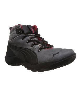 Puma Gray Leather Sport Trekking and