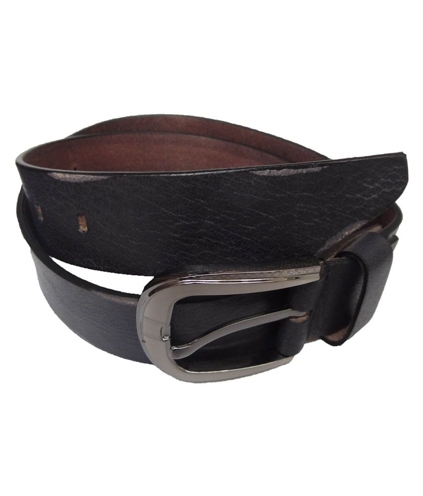 eXcorio Black Casual Leather Belt