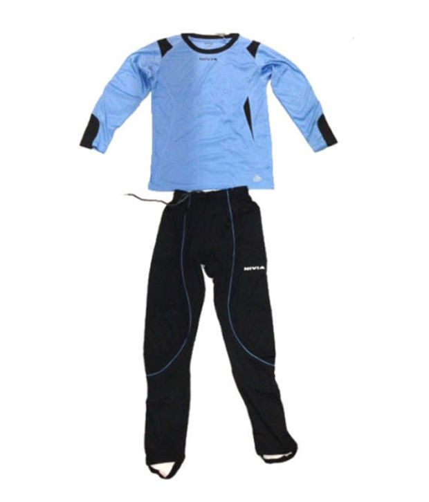 f044b59571e Nivia Spider Blue And Black Football Goalkeeper Jersey Set - Buy Nivia  Spider Blue And Black Football Goalkeeper Jersey Set Online at Low Price in  India - ...