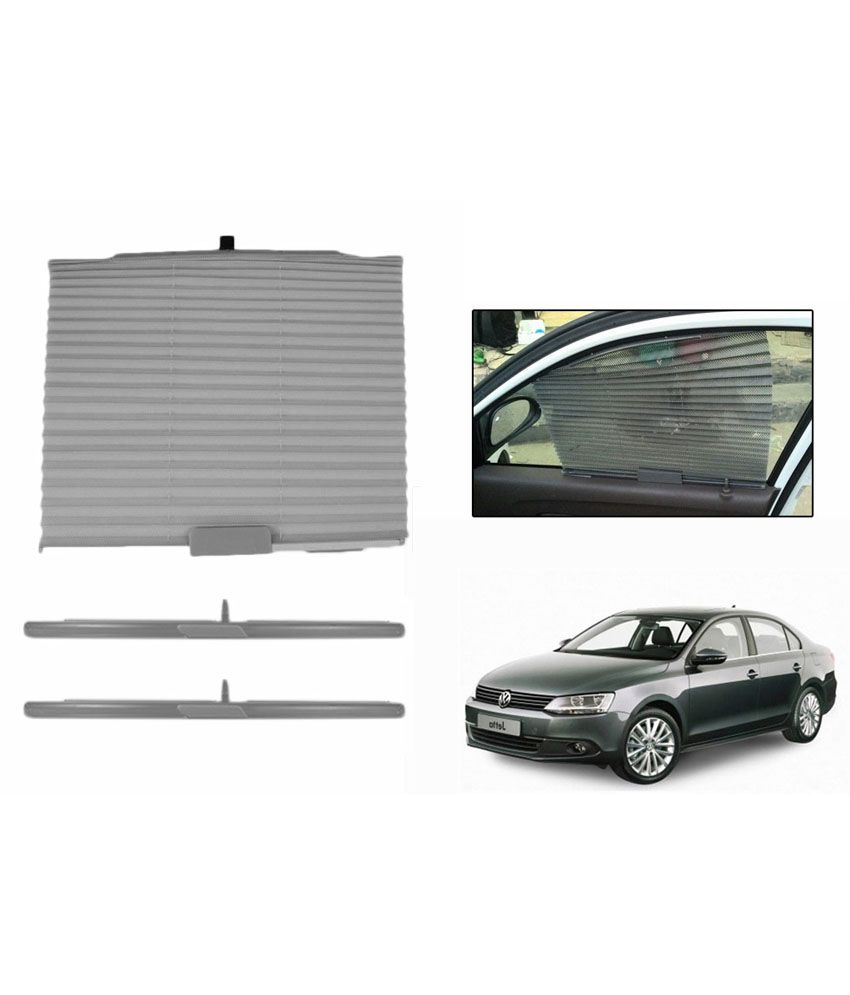 Speedwav Grey Car Auto Folding Sunshade Curtain For