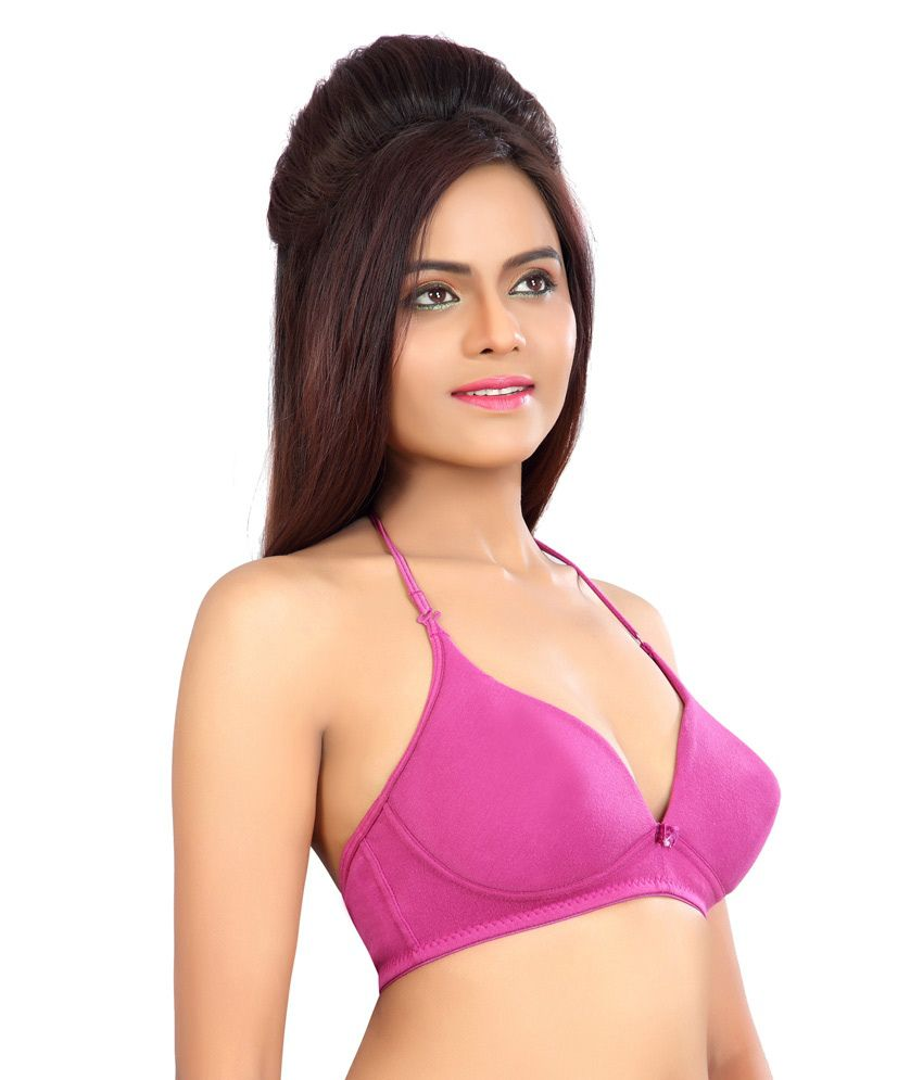 ddbb782f62404 Buy Alisha Women s Padded Bra - Elena Wine-32B Online at Best Prices ...
