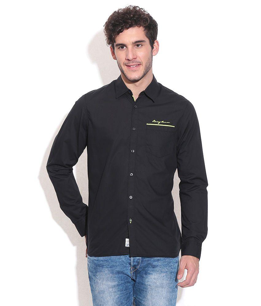Being human black casual shirt buy being human black for Being human t shirts buy online india