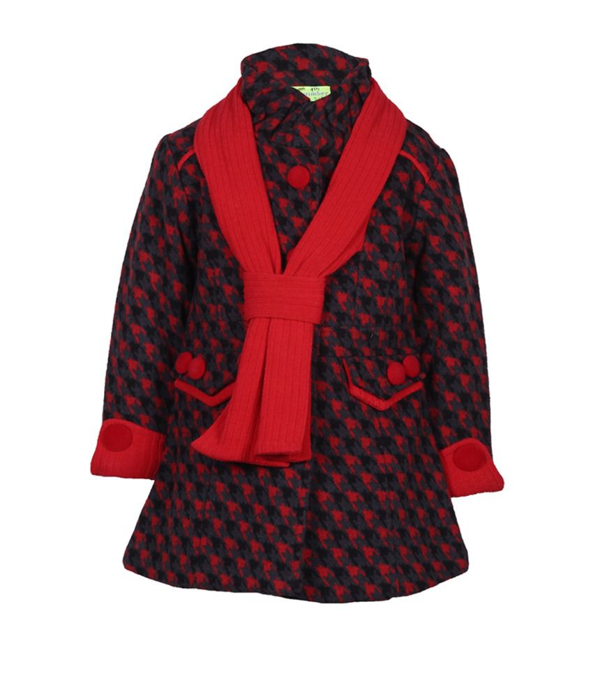 Cutecumber Red Mesh Full Sleeve Jacket