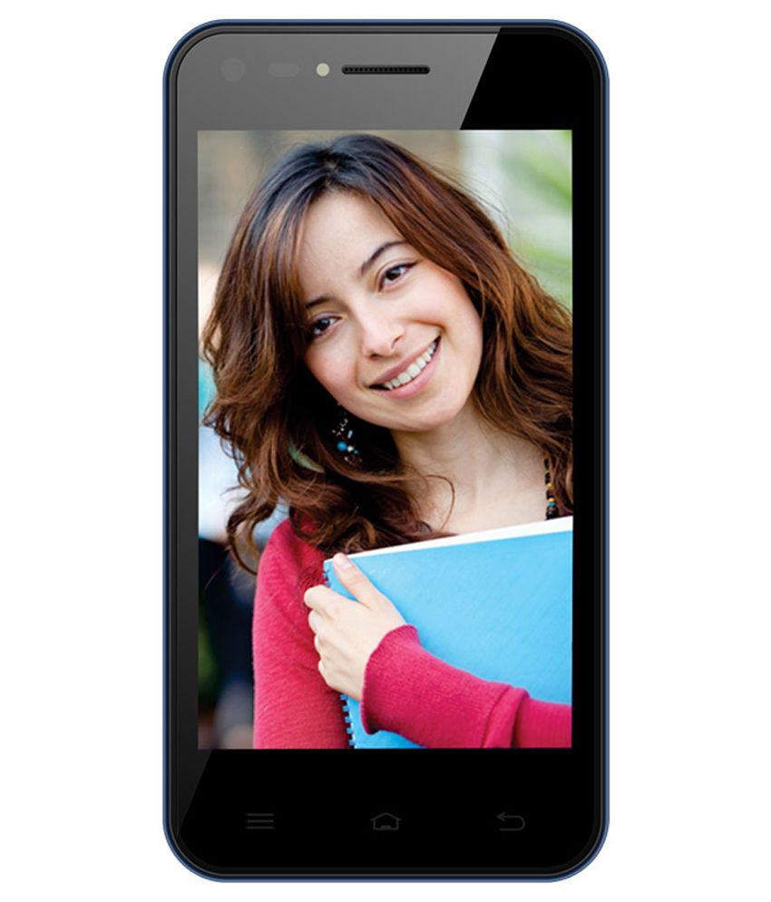 Celkon Campus Whizz Q42 4GB Touch Phone- Black & Blue