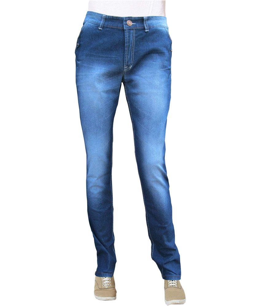 Sv Blue Stretchable Slim Fit Jeans For Men