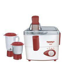 Maharaja Whiteline Real Juice Mixer Grinder (jx-102) Juicer Mixer Grinder Off White & Red