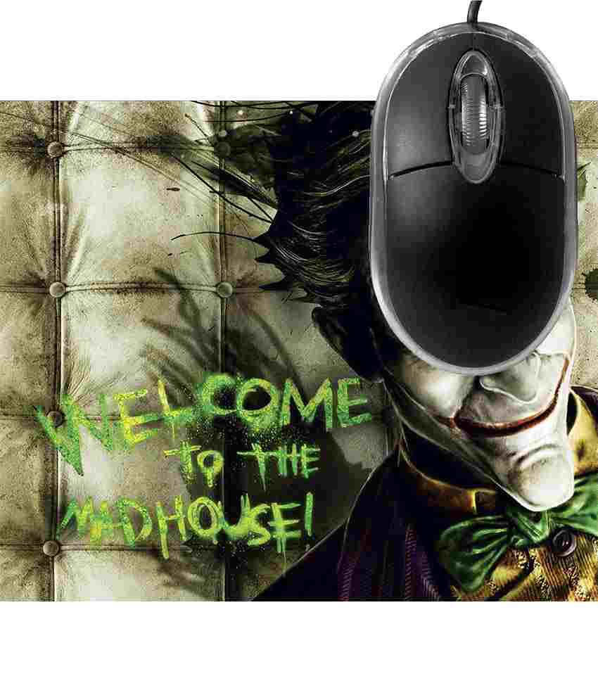 FineArts Welcome to the Mad House Mousepad with Terabyte 3D Optical USB Mouse