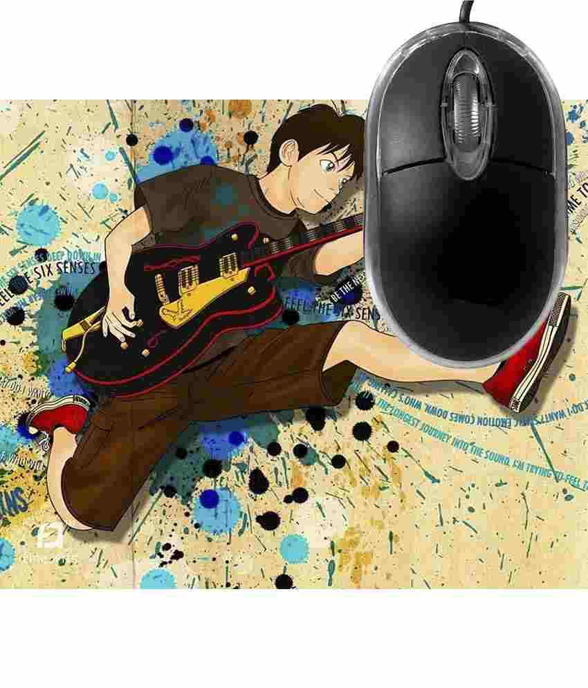 FineArts Feel the Six Sense Mousepad with Terabyte 3D Optical USB Mouse