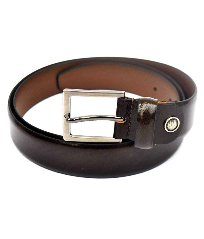 Modish Brown Leather Formal Men's Belt