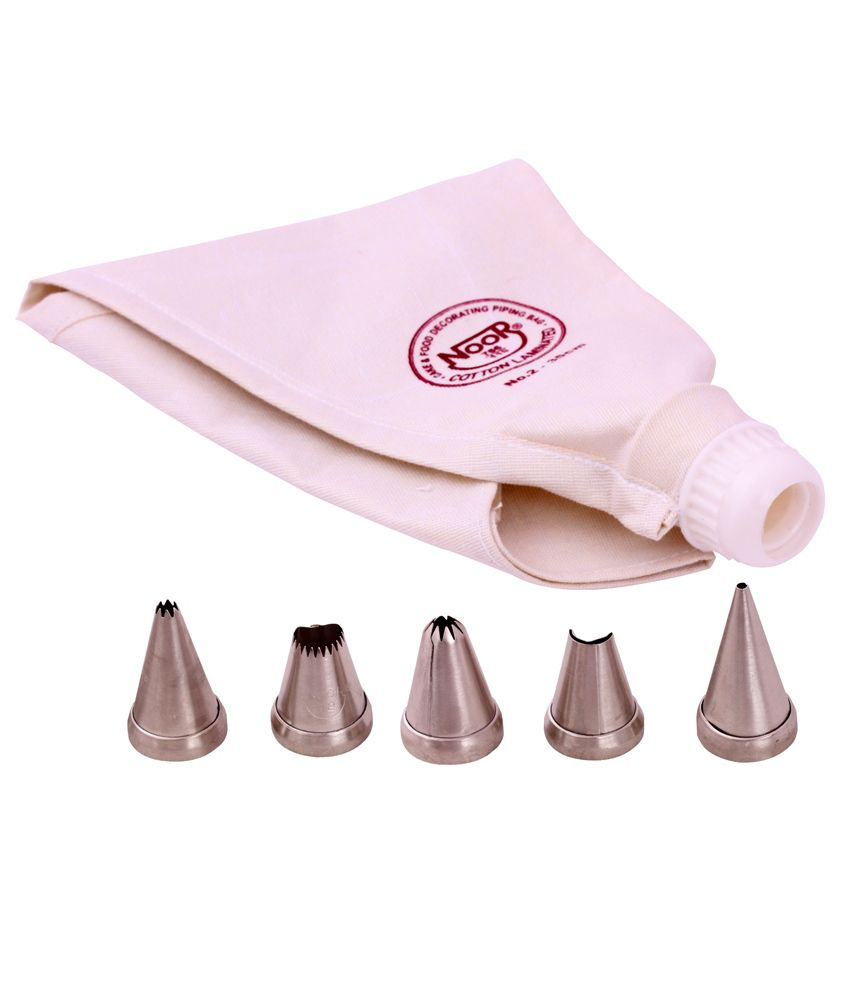 Noor Cake Decorating Icing Bag : Noor Cake Decoration Icing Bag (35 Cm) With S2 Nozzles ...