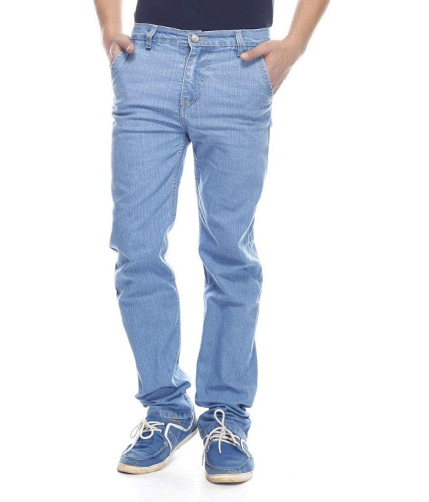 Sambhav Blue Regular Fit Jeans