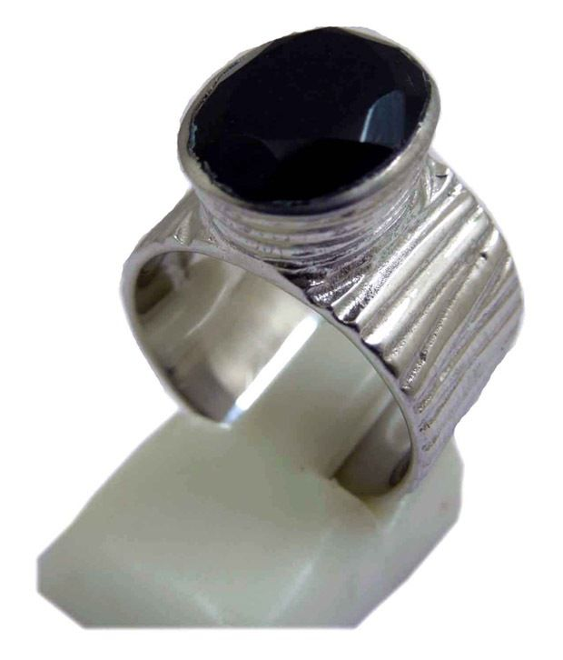 Silver Colors 92.5 Sterling Silver Traditional Black Onyx