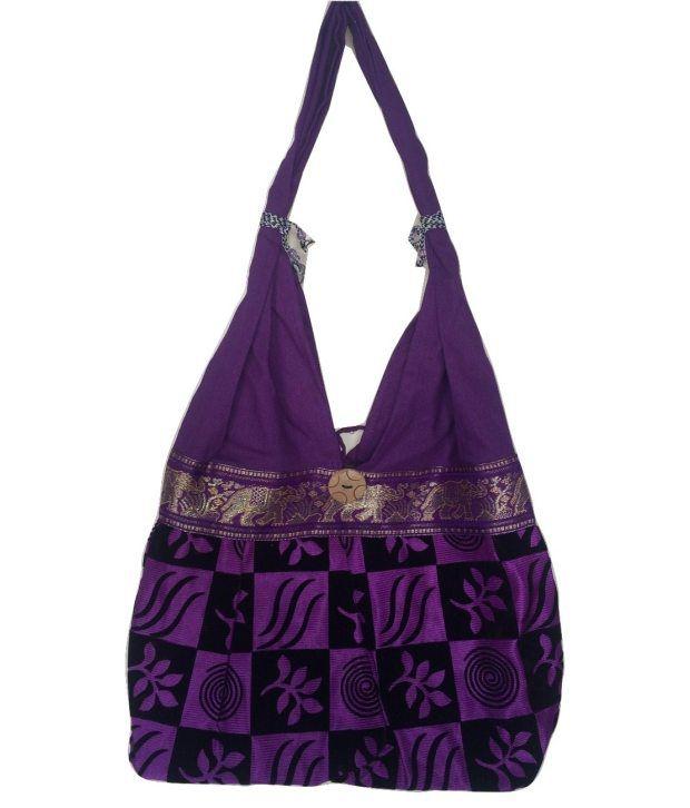 Idbc Handicraft Canvas Gujrati Multi Purpose Shoulder Bag