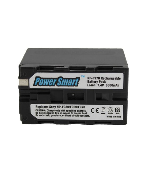 Power Smart Sony Np-f930, 950, F970 6600 Mah Rechargeable Battery