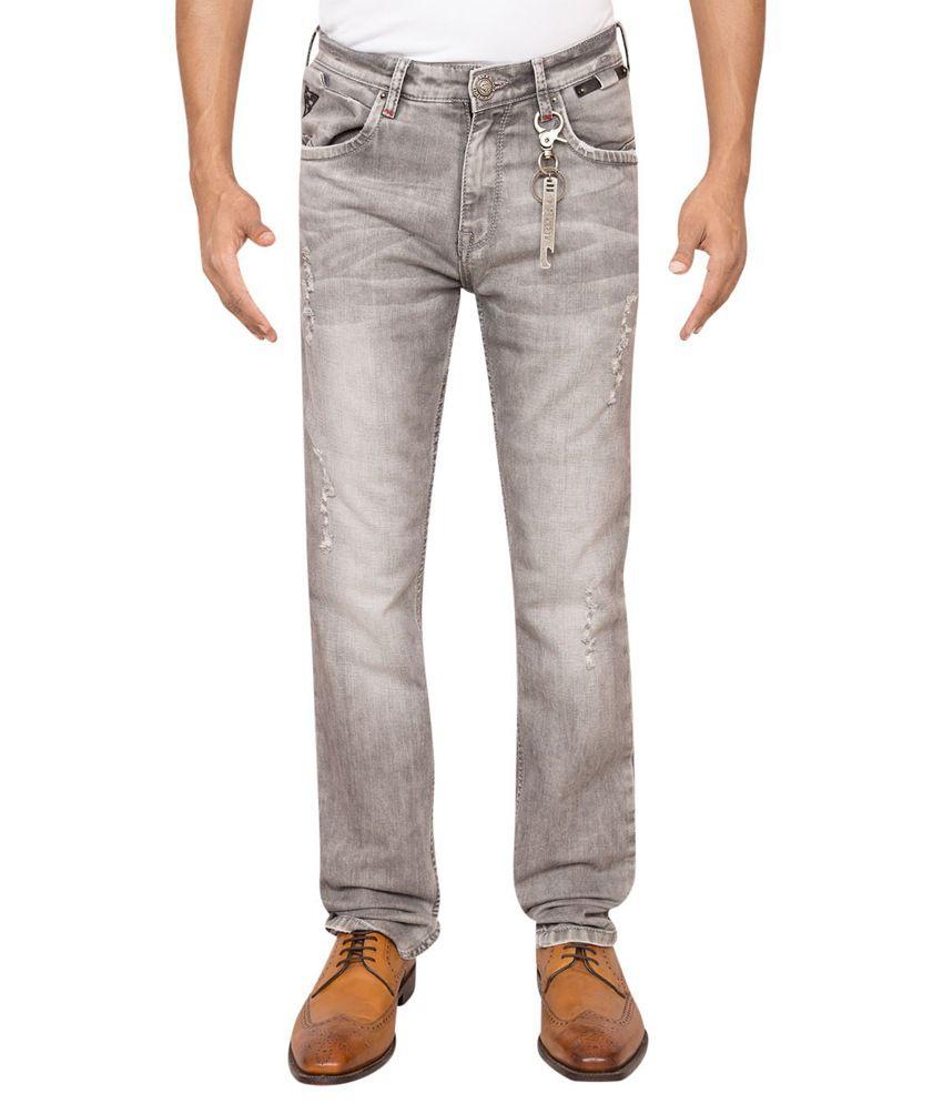 Rick Rogue Grey Slim Fit Cotton Lycra Jean