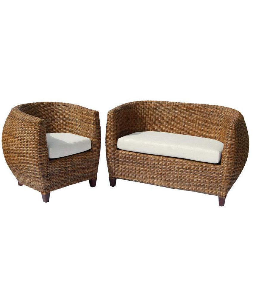 amour brown designer cane sofa buy amour brown designer cane sofa