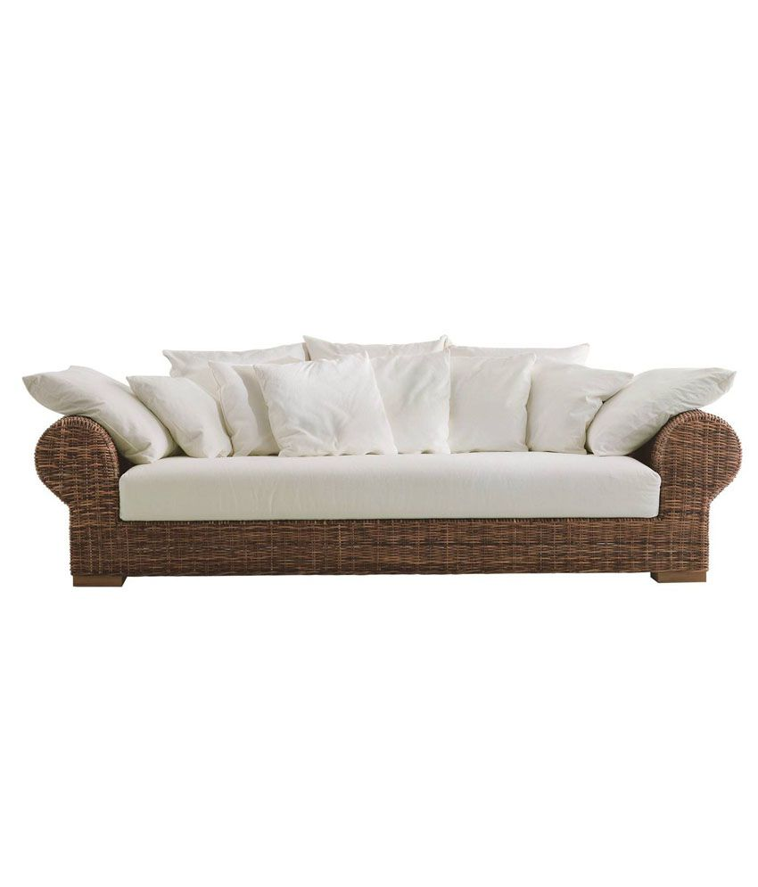 amour brown vintage cane sofa buy amour brown vintage cane sofa