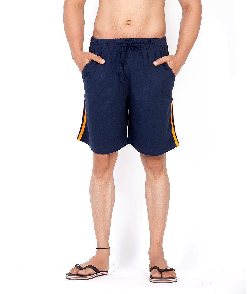 Clifton Cotton Multicolour Men Stripes Shorts