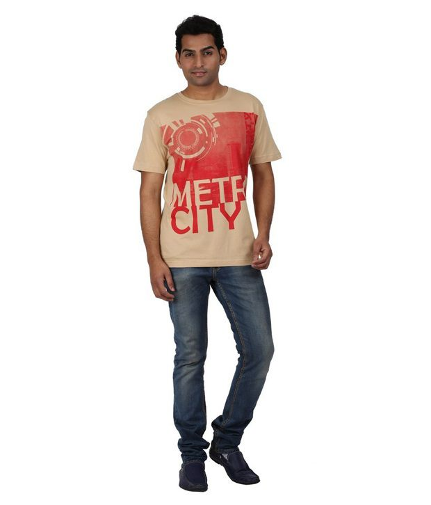 Goflaunt Metro City Printed Men's T Shirt