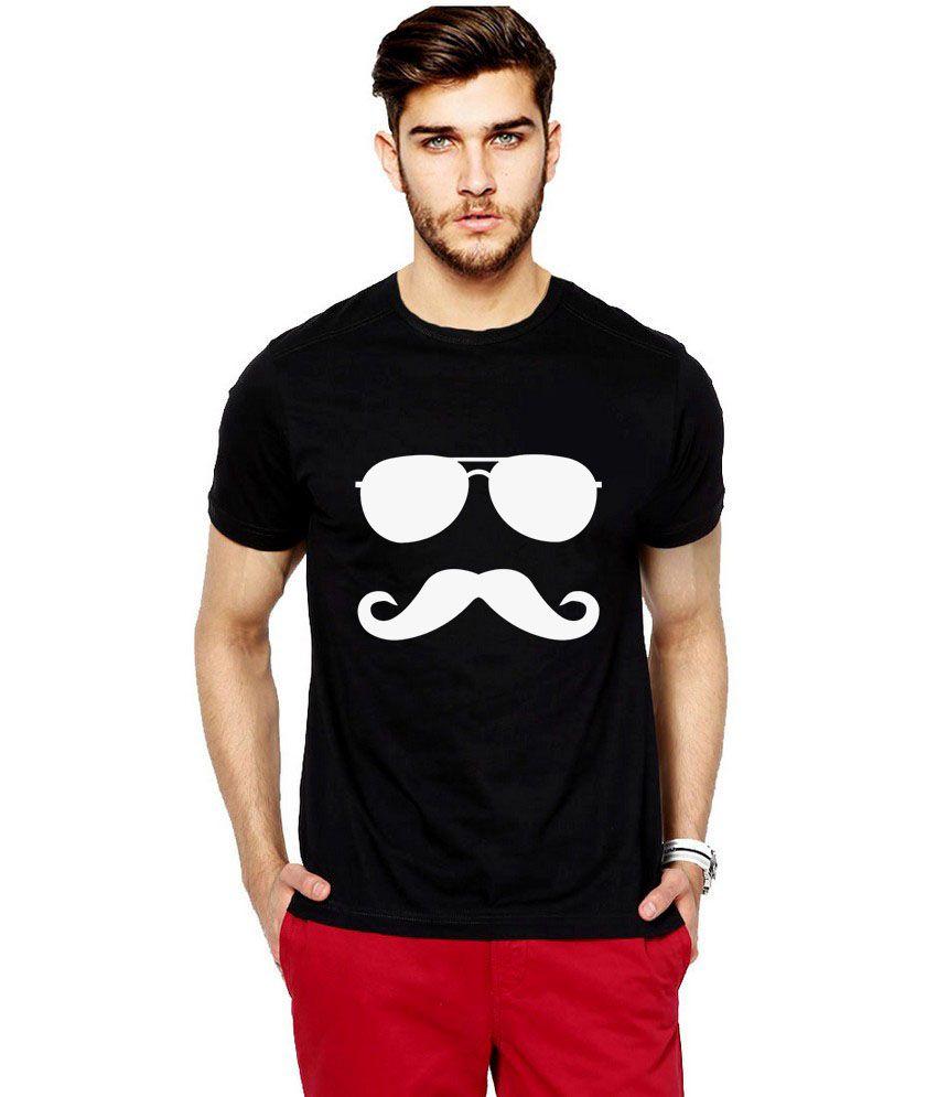 Ilyk Classic Mush Printed Black T-shirt