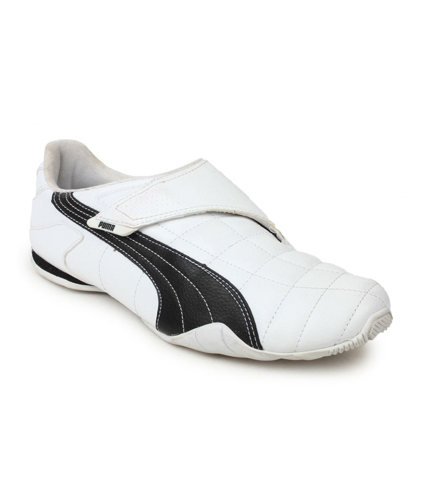 Puma White Velcro Synthetic Leather Casual Shoes - Buy Puma ...