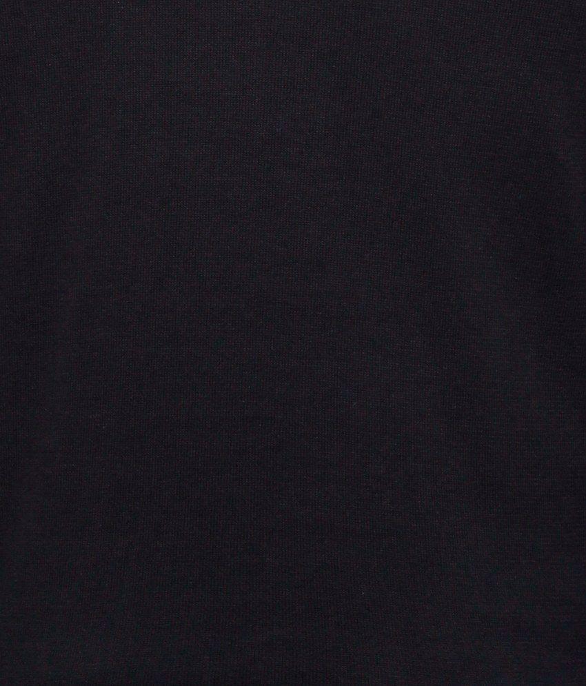 Status quo black basics cotton round neck full sleeves men t shirt