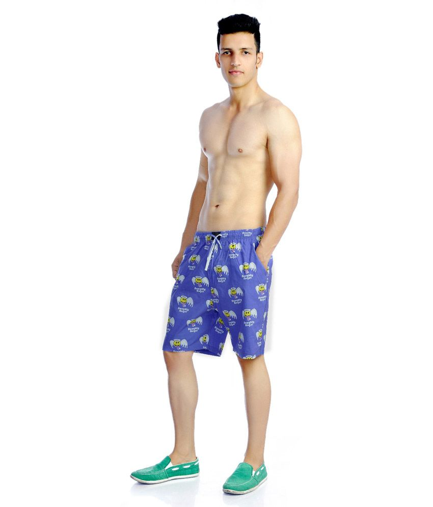 Flamboyant Printed Cotton Boxer Shorts