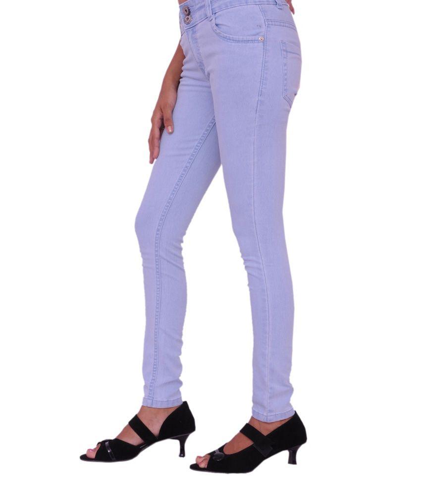 Jevaraz Blue Denim Lycra Jeans