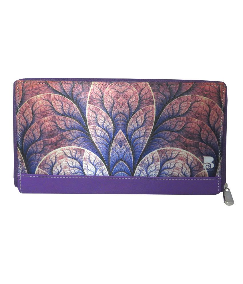 Bombay Projects Ladies Wallet Petal Leaf Brown