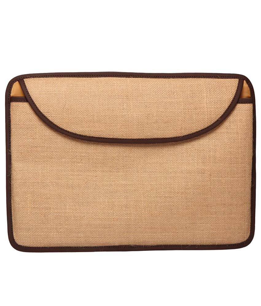 Campus Sutra Brown Laptop Sleeve