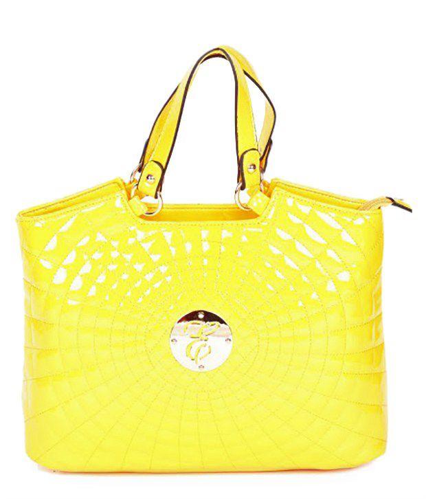 Eleegance 307-Yellow Yellow Satchel Bags