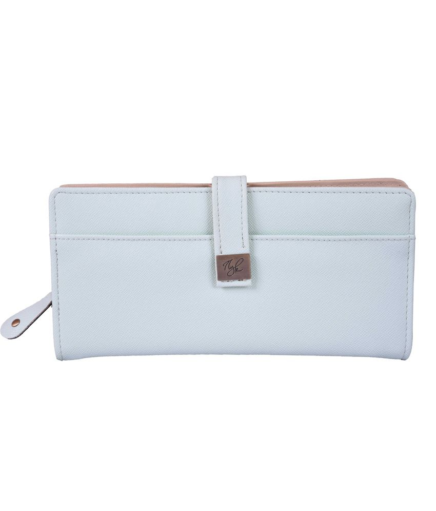 Nyk White Fashionable Non Leather Regular Wallet
