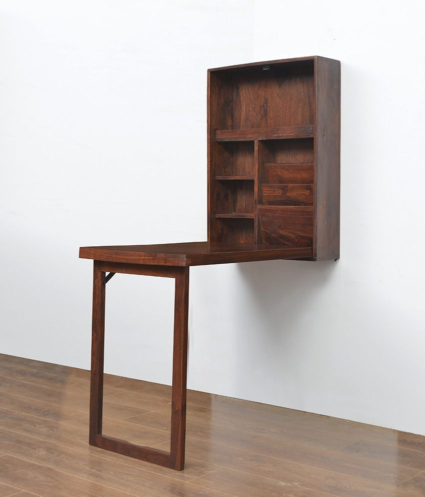 Valindor Wall Mount Study Table Home Nilkamal Brown