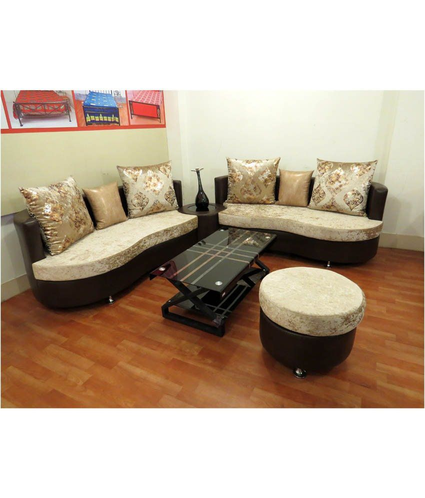 7 seater sofa set in black rh snapdeal com