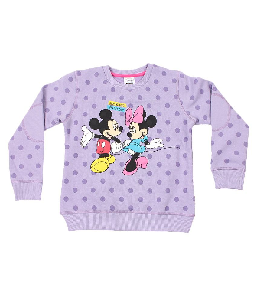 Disney Lavender Graphic Cotton Sweatshirt