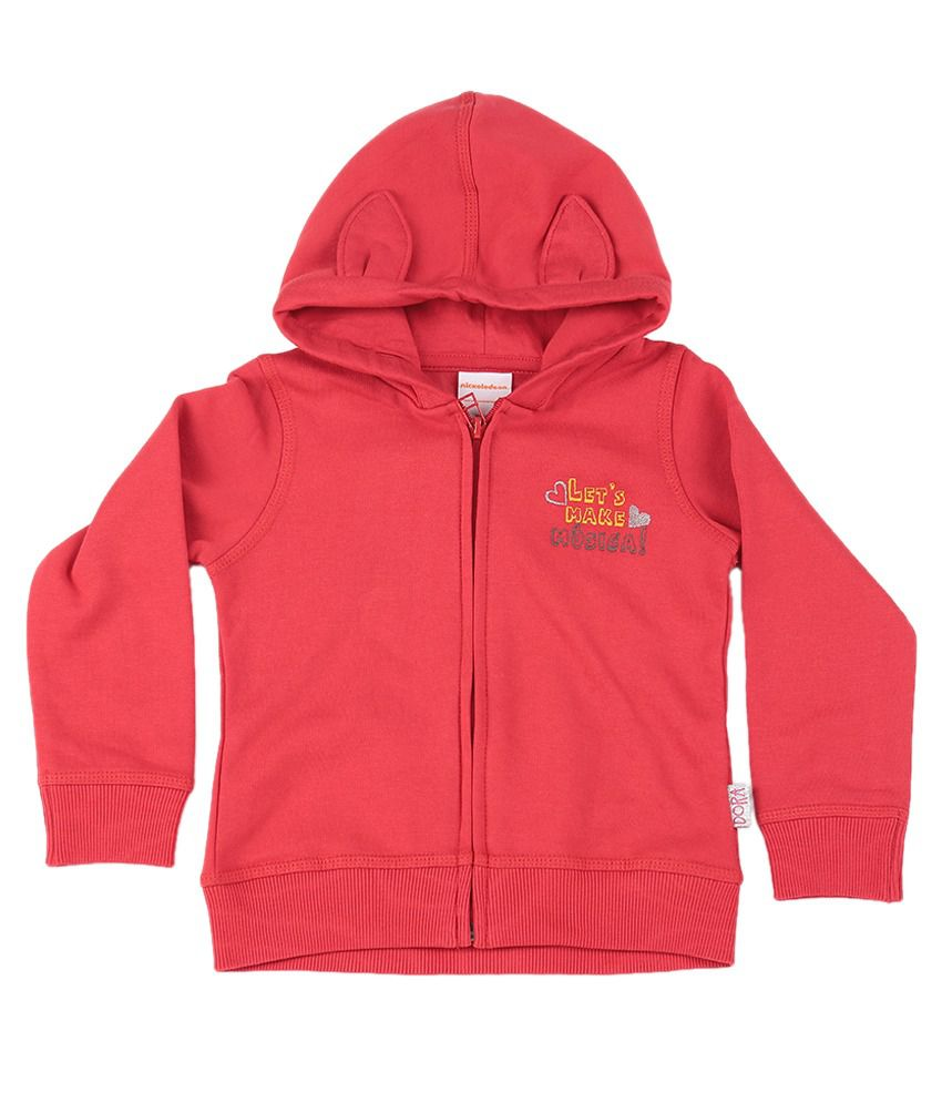Dora Tomato Red Graphic Cotton Sweatshirt