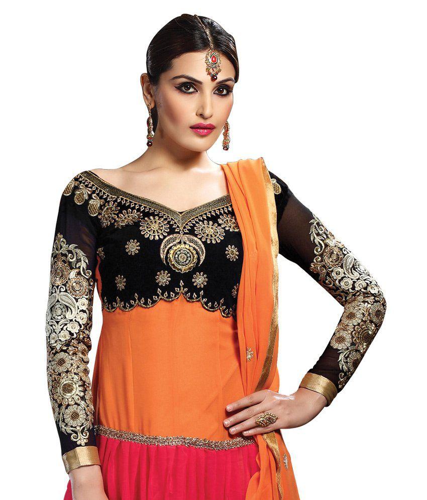Surat Tex Multi Embroidered Pure Georgette Anarkali Salwar Suit