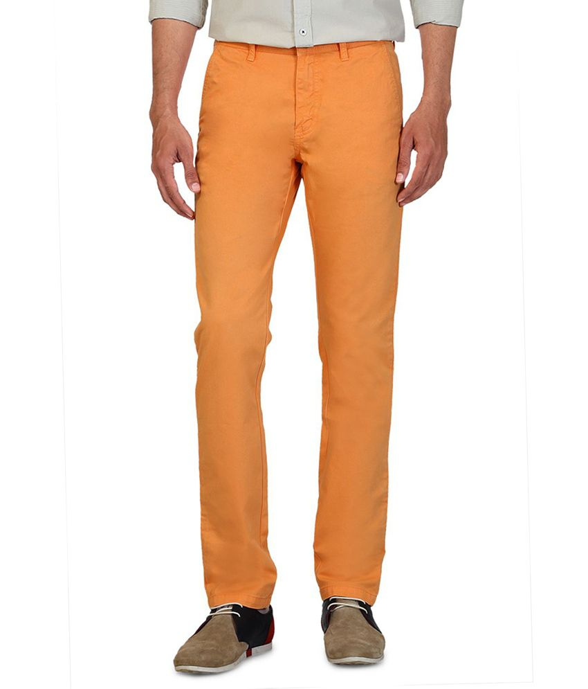 Allen Solly Orange Slim Formals