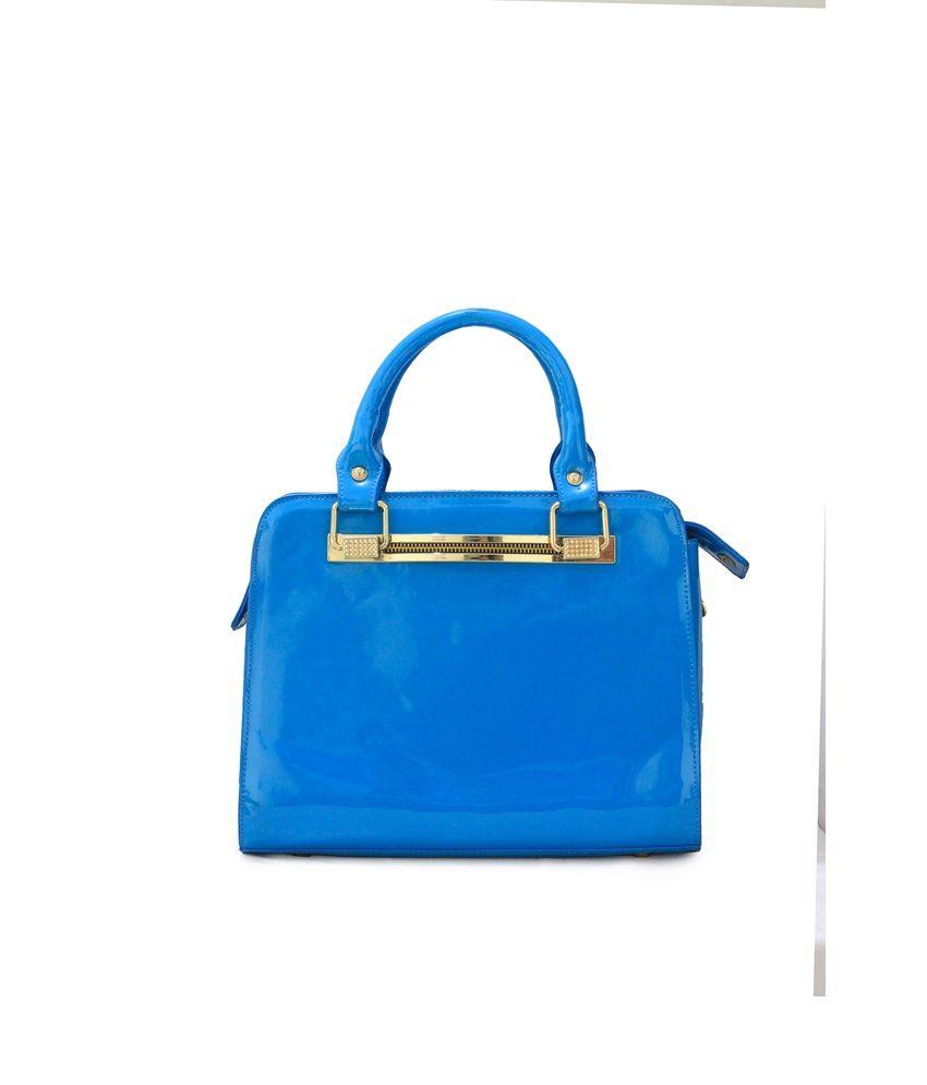 Penguin P.U  Blue Women Hand Bags
