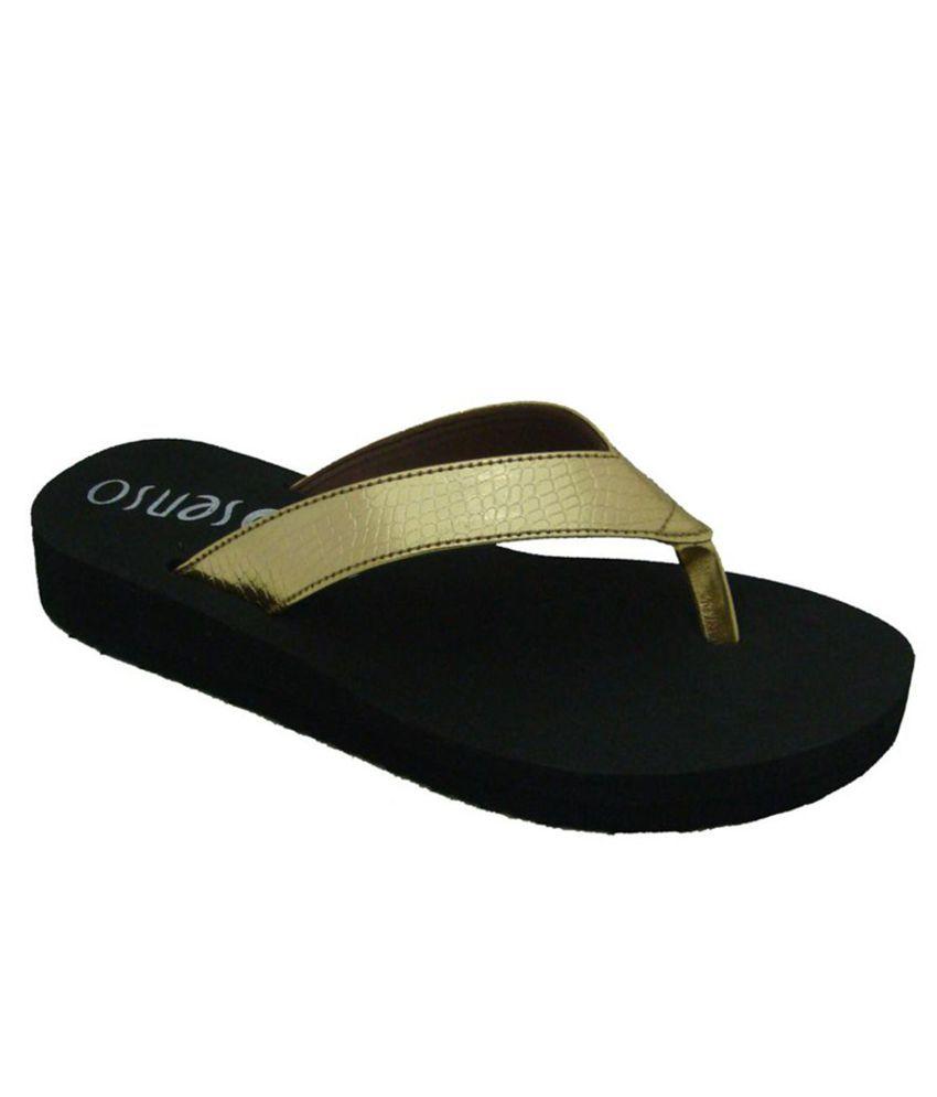 Senso Vegetarian Gold Slippers