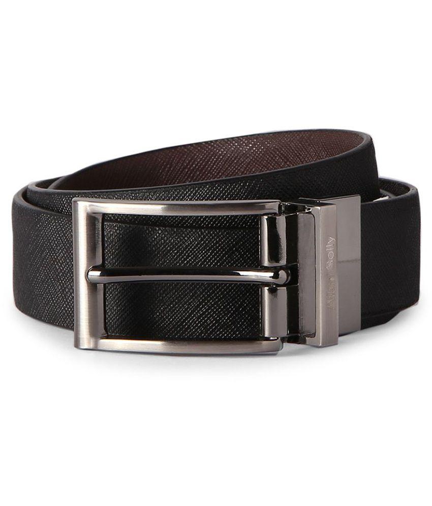 Allen Solly Black Textured Belt