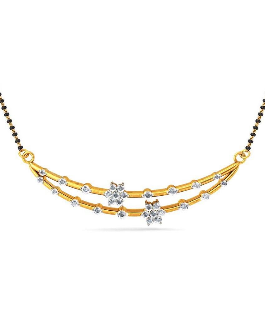 Jacknjewel 18kt Gold Certified Amaze Diamond Gold Mangalsutra
