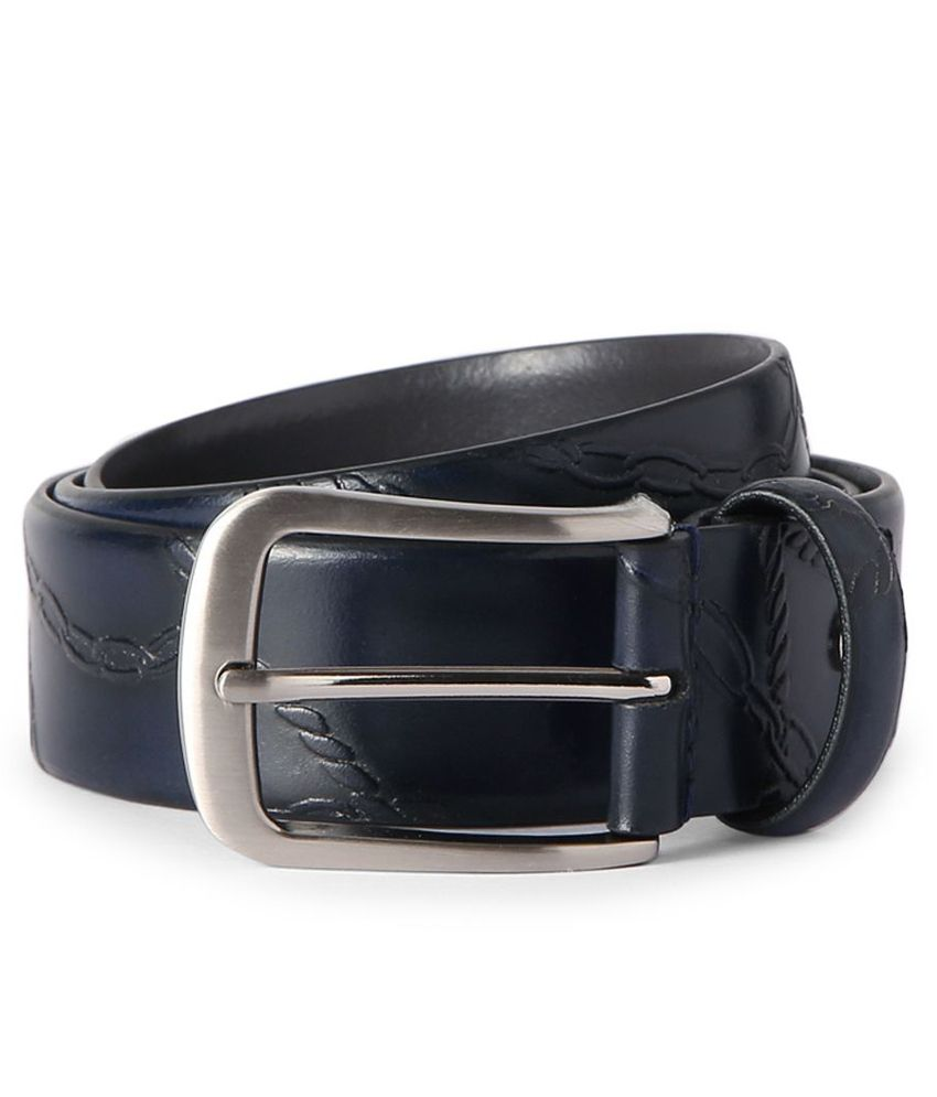 Allen Solly V Dot Blue Chain Embossed Belt